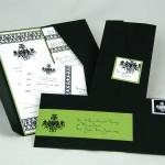 Black & bright green Pocketfold Invitation - EnvelopMe.com
