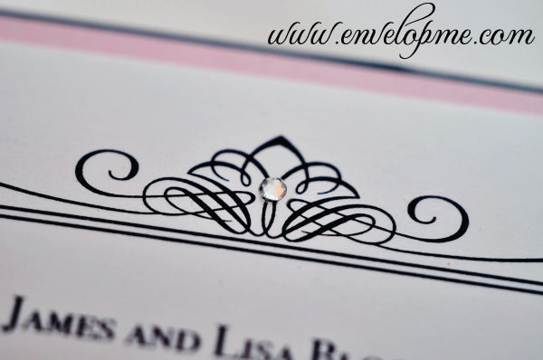 Add a little bling to your invitation - www.envelopme.com