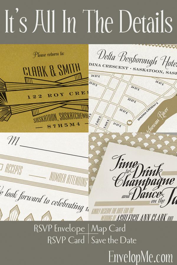 Art Deco Pocketfold Invitation by EnvelopMe.com