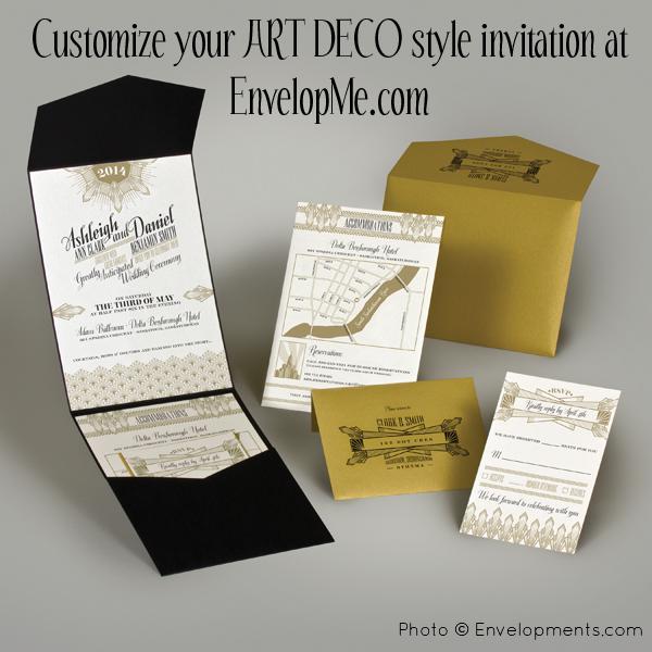 Top Trend: Art Deco Style by EnvelopMe.com