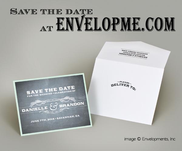 Chalkboard Save-The-Date - envelopme.com