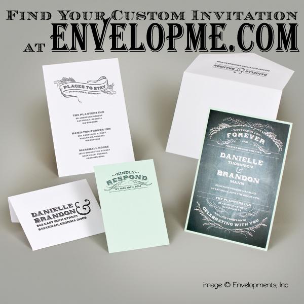 Chalkboard Wedding Invitation - EnvelopMe.com