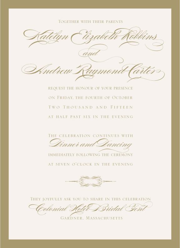 Traditional Elegant Invitation - www.envelopme.com