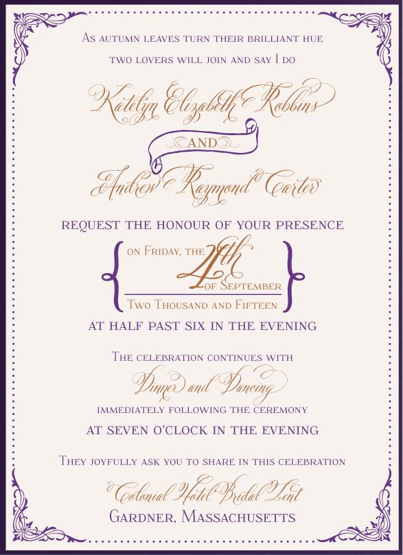 Elegant Victorian Invitation - www.envelopme.com