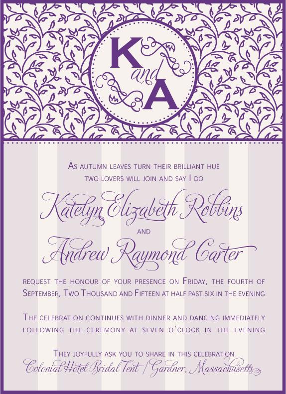 Patterned Wedding Invitation - www.envelopme.com
