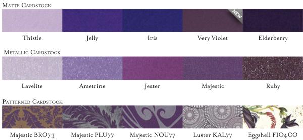 purple cardstpock