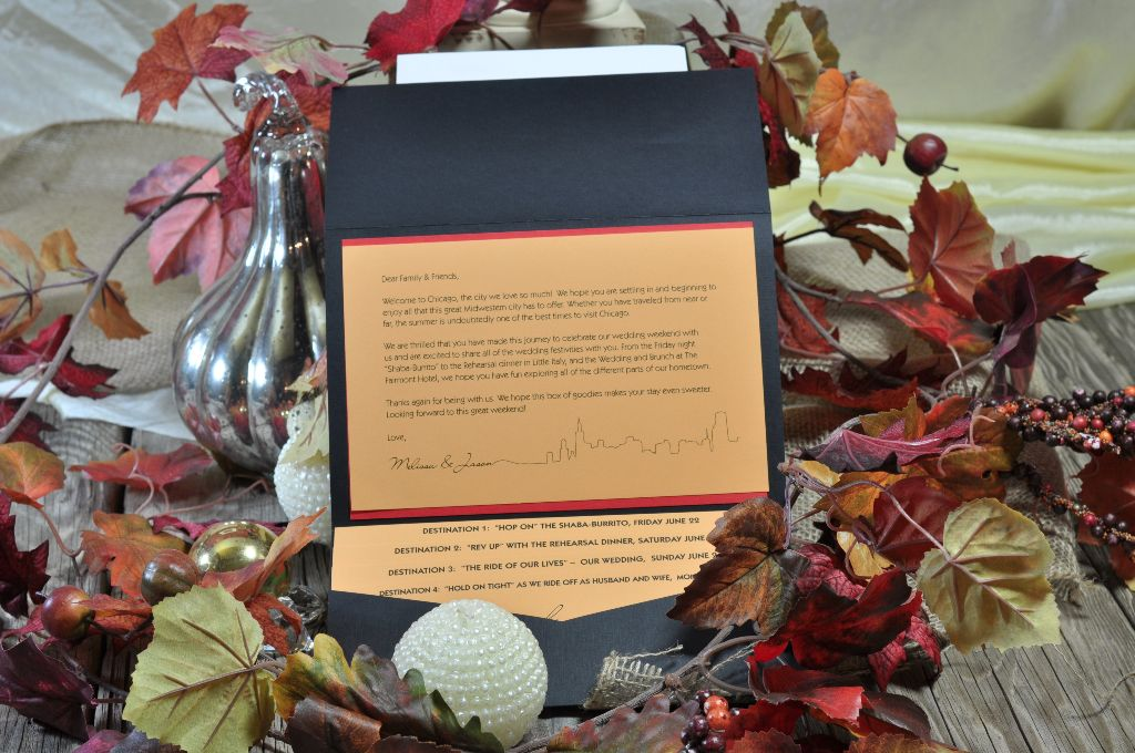 Fall Wedding Welcome Packet 1