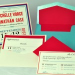 Red, Whit & Blue Layered Invitation (with turquoise)  - EnvelopMe.com