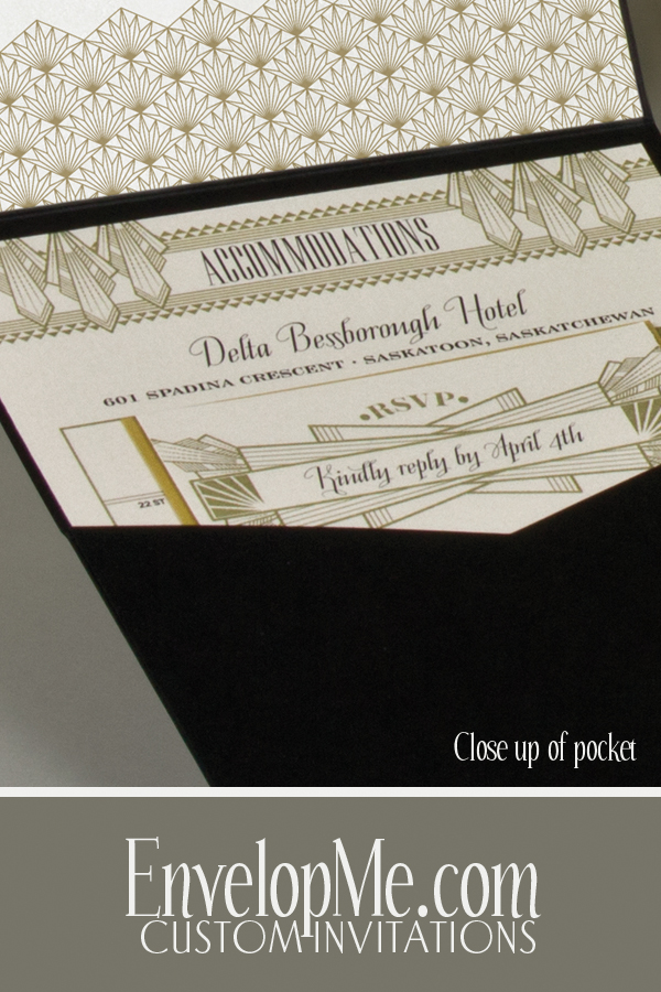 Art Deco Pocketfold Invitation by EnvelopMe.com