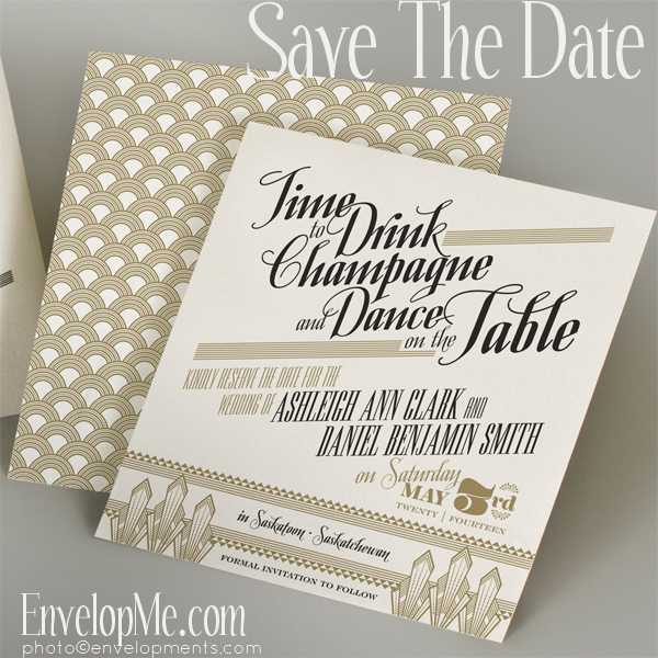 Art Deco Save the Date from EnvelopMe.com