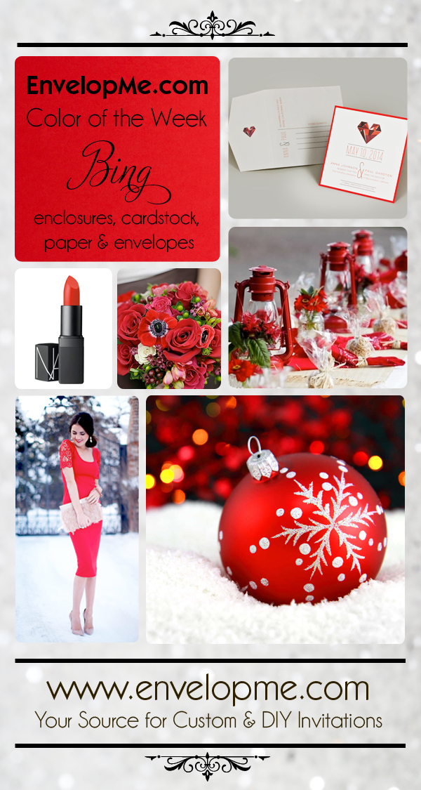 Bing - A Bright Cheery Red for your Holiday Inviations