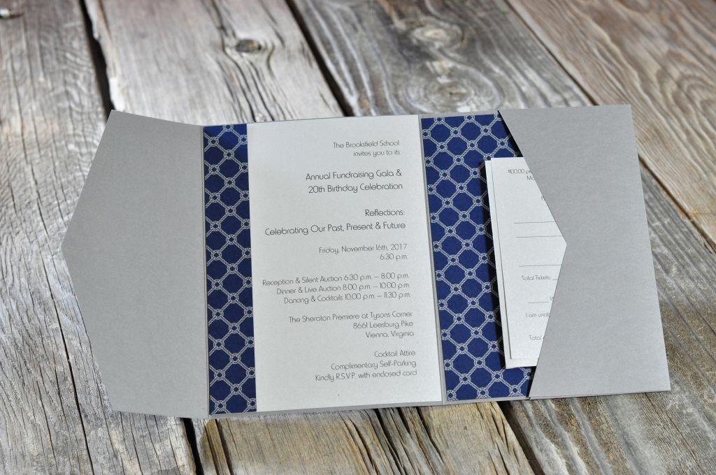 annual fundraising gala pocket fold invitation envelopme com