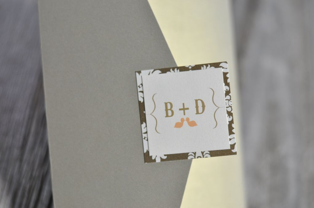 Bailey & Dustin\'s Love Bird Pocket Fold Wedding Invitation ...
