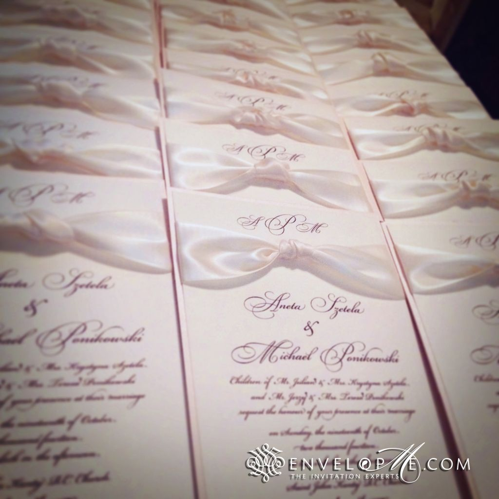 Aneta & Michael\'s Blush Wedding Invitations - EnvelopMe.com