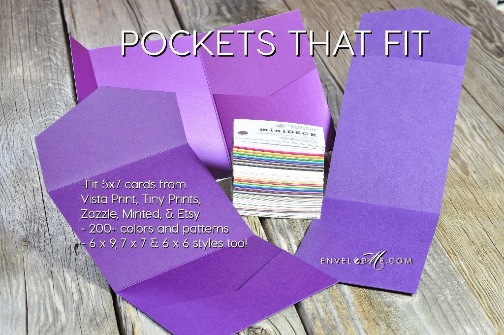pockets that fit 5 x 7 invitations? yes! we have them! - envelopme.com